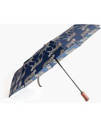 J.Crew Printed Pocket Umbrella - Blue