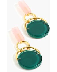 J.Crew Disc Drop Earrings In Resin - Green