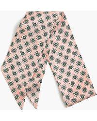 J.Crew - Silk Everything Tie In Floral Dot Print - Lyst