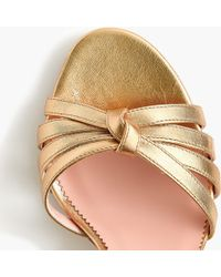 38756e5e0fc Riley Sandals In Metallic Gold