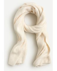 J.Crew Ribbed Scarf In Supersoft Yarn - Natural