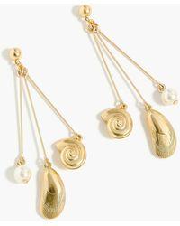 J.Crew - Seashell Drop Earrings - Lyst
