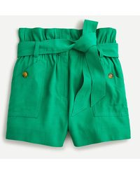 J.Crew Drapey Paper-bag Short - Green