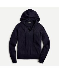 J.Crew Hoodie In Featherweight Cashmere - Blue