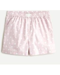J.Crew Cotton Poplin Boxer Short In Pink Dot - Multicolor
