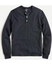 J.Crew Garment-dyed Slub Cotton Henley - Blue