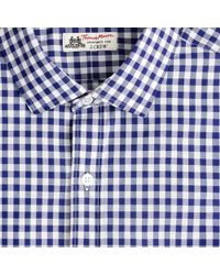 Thomas Mason Thomas Mason Ludlow Shirt In Gingham - Blue