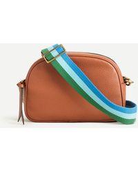 J.Crew Tri-color Woven Bag Strap - Blue