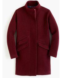 J.Crew Petite Cocoon Coat In Italian Stadium-cloth Wool - Red