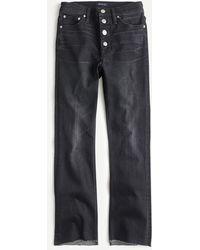 "J.Crew 9"" Demi-boot Crop Jean In Charcoal - Blue"