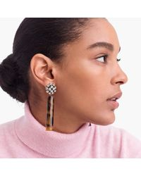 J.Crew - Crystal And Tortoise Clip-on Earrings - Lyst