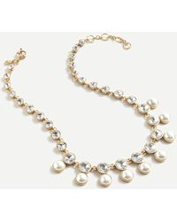 J.Crew Pearl And Crystal Snowfall Necklace - Multicolor