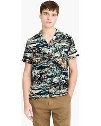 J.Crew - Short-sleeve Printed Rayon Camp-collar Shirt - Lyst