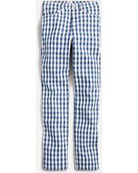 "J.Crew 10"" Vintage Straight Jean In Gingham - Blue"