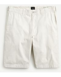 "J.Crew 10.5"" Short In Garment-dyed Cotton Chino - White"
