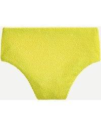 J.Crew Scrunchie High-cut Waist Bikini Bottom - Yellow