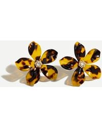 J.Crew - Acetate Flower Earrings With Pavé Detail - Lyst