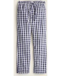 J.Crew Pajama Pant In Cotton Poplin - Blue