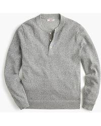J.Crew Wallace & Barnes Silk-cotton Henley Sweater - Gray