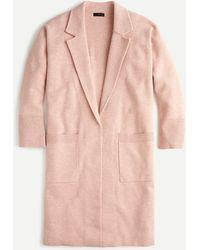 J.Crew Ella Open-front Long Sweater-blazer - Pink