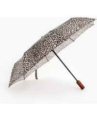 J.Crew Printed Pocket Umbrella - Brown