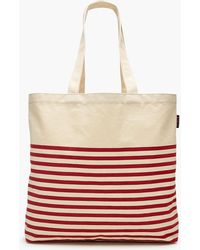 J.Crew - Large Reusable Everyday Tote In Stripe - Lyst