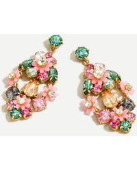 J.Crew Botanical Cluster Statement Earrings - Multicolour