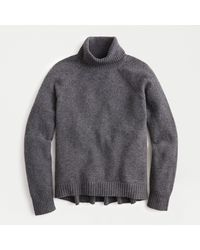J.Crew Turtleneck Sweater In Supersoft Yarn - Gray