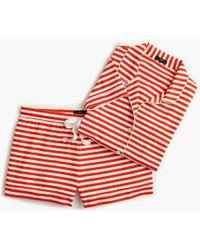 J.Crew - Dreamy Short-sleeve Cotton Pajama Set In Stripe - Lyst