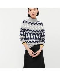 J.Crew Fair Isle Mockneck Sweater In Supersoft Yarn - Multicolor