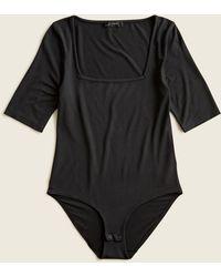 J.Crew Squareneck Stretch Bodysuit - Black