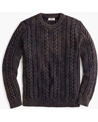 J.Crew - Wallace & Barnes Cable-knit Crewneck Jumper In Washed Cotton - Lyst