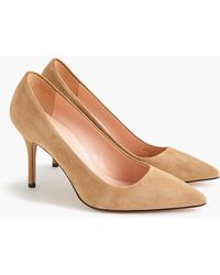 J.Crew Elsie Suede Court Shoes - Brown