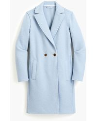 J.Crew Petite Daphne Topcoat In Italian Boiled Wool - Blue