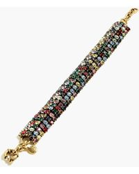 J.Crew Crystal Chain Bracelet - Metallic