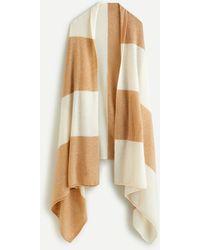 J.Crew Oversized Cashmere Wrap In Stripe - Multicolour