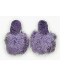 Ariana Bohling - Suri Alpaca Slippers - Lyst