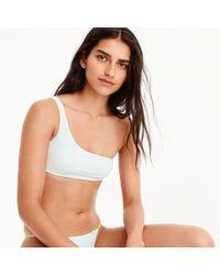 J.Crew - Reversible One-shoulder Bikini Top - Lyst