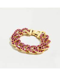 J.Crew Pavé Chain Bracelet - Metallic