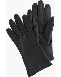J.Crew Cashmere-lined Leather Gloves - Black