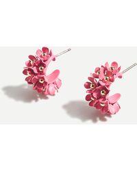 J.Crew Soft Bouquet Hoop Earrings - Pink