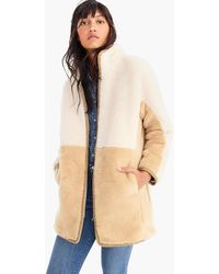 J.Crew - Colorblock Zip-up Teddy Coat - Lyst