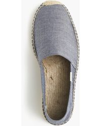 Soludos - Striped Chambray Espadrilles - Lyst