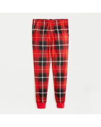 J.Crew Jersey Pajama Pant In Red Plaid