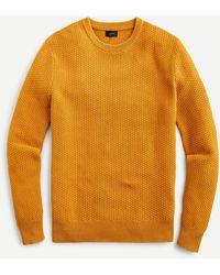 J.Crew - Cotton Sweater In Checker Stitch - Lyst