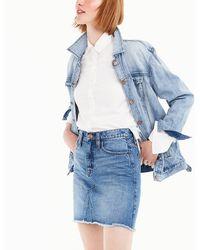 J.Crew Denim Skirt In Birch Wash - Blue