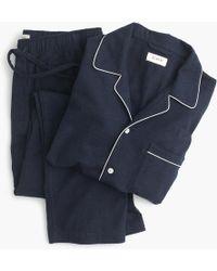 J.Crew - Heathered Flannel Pajama Set - Lyst
