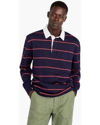3fd85d23477 Lyst - J.Crew Pima Cotton Short-sleeve Sweater-polo In Stripe in ...