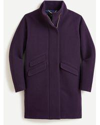 J.Crew Cocoon Coat In Italian Stadium-cloth Wool - Blue