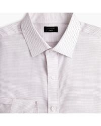J.Crew - Slim Ludlow Stretch Two-ply Easy-care Cotton Dress Shirt In Dobby Print - Lyst